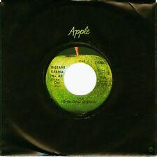 "JOHN LENNON 45 INSTANT KARMA APPLE 1818 The Beatles 7"" w/ Apple Sleeve MINT"