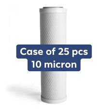 """Activated Carbon CTO Water Filter Cartridge 2.5 x10"""" 10 Micron 25 Pack"""