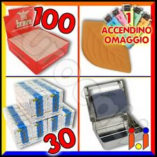 4500 Filtri RIZLA slim + 4000 cartine BRAVO corte + Rollatore + Pietra