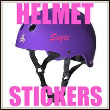 2 X CUSTOM PERSONALIZZATA bici casco adesivi Ragazzi Ragazze
