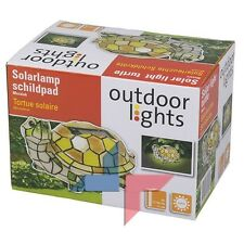 LAMPE BALISE TORTUE SOLAIRE JARDIN MOSAIQUE STYLE TIFFANY RECHARGEABLE NEUF 90