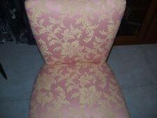 poltrona,sedia,originale legno anni 60,nuovi rivestiti in damasco,divano,chair