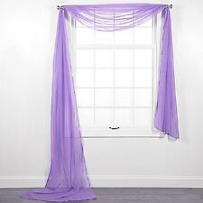 HOTEL HIGH QUALITY SCARF VALANCE TOPPER CASCADING VOILE SHEER FABRIC 1 PC ONLY