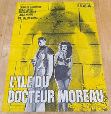 Affiche de cinéma : L'ILE DU DOCTEUR MOREAU de ERLE C. KENTON