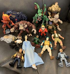 Lot of Vintage Action Figures TMNT, Imaginext, Jurassic Park, Zoids More