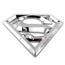3D Superman Logo Chrom Emblem Badge mit Kleberückseite Aufkleber Decal Joker
