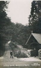 More details for bylch y cibau - church lychgate - real photo c.1915 - a.e. chaney - # 50