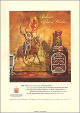 1954 beverage AD CHIVAS REGAL Scotch Whisky Beautiful Illustration 070717