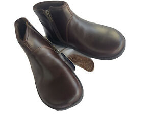 Birkenstock Bennington Womens Brown Leather Ankle Boots size 37 / 6 $179