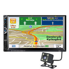 """7"""" 2 DIN Car MP5 MP3 Player Radio Stereo Bluetooth GPS Navi + Middle East Map"""