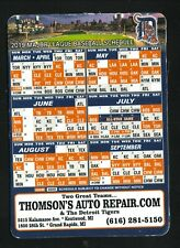 Detroit Tigers--2019 Magnet Schedule--Thomson's Auto Repair