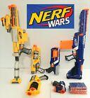 Nerf Gun Blaster Lot Of 6 Retaliator Recon CS6 Disruptor Blue v Yellow Nerf War!