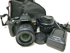 Olympus E-600 10.0MP Digital SLR Camera - Black (Kit w/ 14-42mm and 40-150mm)