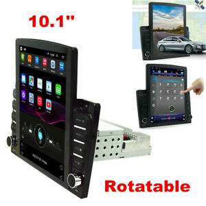 10.1'' 1DIN Android 8.1 Quad-core Car Stereo Radio GPS Wifi Multimedia Player
