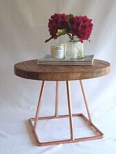 Coffee table on a copper stand by Artisan craftworks