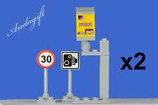LEGO city car speed camera double set 30 mile limit and camera road signs