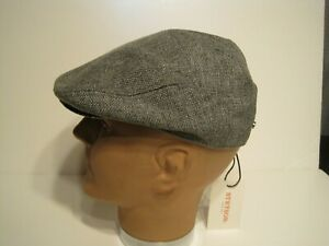 STETSON polyester burlap finish driving Cap Hat New L/XL grey