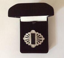 Brooch Art Deco Style In Luxury Velvet Gift Box