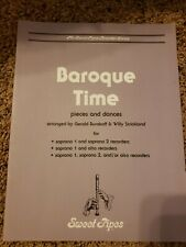 Baroque Time Pieces And Dances For Recorder