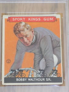 1933 Sport Kings Bobby Walthour Card #7 PSA Fair 1.5 Cycling HOF