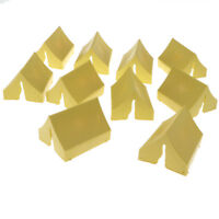 10pcs Military Sand Scene Model Plastic Toy Soldiers Kits -Tent Yellow