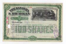 Kanawha & Michigan Railway stock certificate
