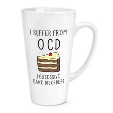 Soffro di disturbo ossessivo-compulsivo ossessivo torta 17oz Latte Macchiato tazza grande-Divertente Cibo