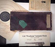 Vintage Colt Woodsman Automatic Pistol .22 Cal Long Rifle Original Box Manual +