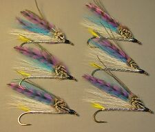 Smelt Bucktail Streamer Trout Flies - 6 Fly MULTI-PACK - Sizes 4, 6 and 8