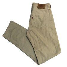 LEVIS Vintage 501 Mens Beige Straight Regular Jeans W32 L34 (S505)