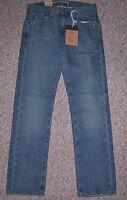 New LEVI'S Blue Denim 511 Skinny Extra Slim Fit Straight Leg Jeans 30 x 30 NWT