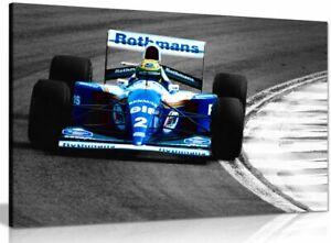 Ayrton Senna F1 World Championship Canvas Wall Art Picture Print