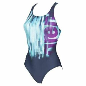 Arena Swimming Drawing Pro Back Womens Ladies One Piece Swimsuit Swimwear