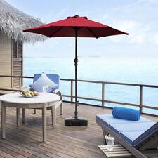 7.5ft Outdoor Parasol 6 Rib Canopy Umbrella Sun Shelter W/Crank Patio Shade Red