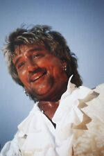Photo of Rod Stewart in concert original mounted 12 x 8 inches, by Mel Longhurst