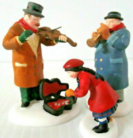 STREET MUSICIANS # 55646 S/3 Dept 56 Christmas in the City GOOD DISPLAY WITH BAN