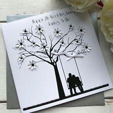 Handmade Personalised Wedding Anniversary Card, Mum, Dad, Brother, Sister, Uncle