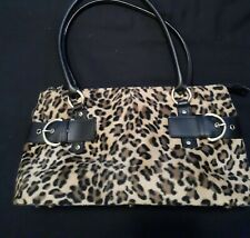 Giovanna Leopard-Print Purse-Shoulder Bag with Handles-Excellent Condition