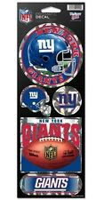 NEW YORK GIANTS PRISMATIC HOLOGRAPH STICKER DECAL SHEET OF 5 NFL FOOTBALL