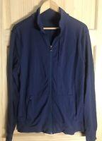 Lululemon Mens Full Zip Jacket Dark Blue Pockets Athletic Athletica L Large
