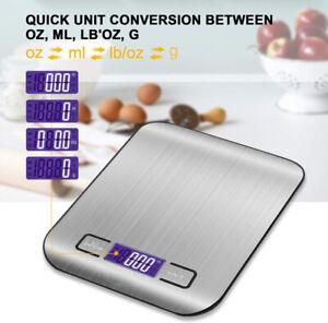 Küchenwaage 5kg mit LCD-Display mit hoher Präzision bis zu 1g und Tara Funktion