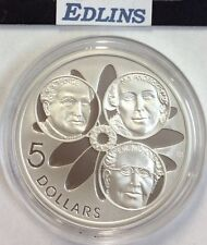 2001 $5 silver coin Spence,Anderson,Nicholls - ex masterpieces set