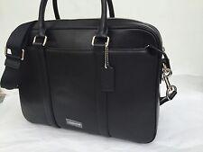 COACH MEN -BLACK Leather Slim Brief Briefcase Bag NWT $595