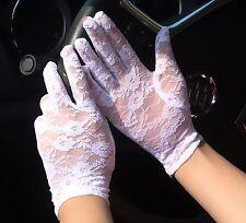 Women Lady Black White Opera Hen's night Lace Fancy Party short Costume Gloves