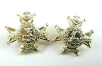 Pair of The Notts/Derbys Sherwood Foresters Staybright Staybrite collar badges