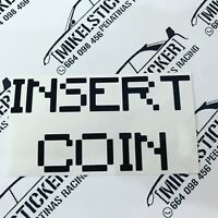 Vinilo de corte insert coin  divertido de 12cm sticker decal