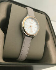 Fossil BQ3135 Suitor Mother of Pearl Dial Black Leather Strap Women's Watch NWT