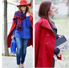 MANGO (ZARA Group) Red Velveton Pea - Coat size S