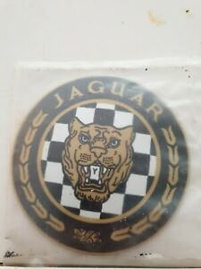 "Jaguar  Stove Enamel Sign Really Neat  4.5""   pre holed  New. No23"