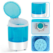 Mini Washing Machine Dryer Semi-Automatic Spinner Washer Portable Laundry Blue